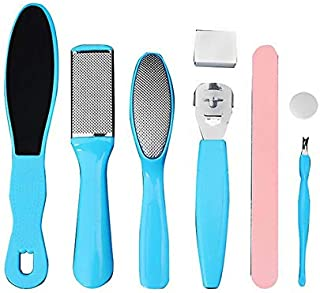 8 in 1 Professional Pedicure kit Set Pedicure Rasp Foot File Callus Remover for Dead, Hard Skin, Cracked Heels, Dry Feet, Great Foot Care Tools for Women Men