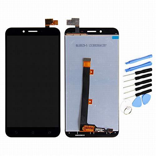 YQZ ASUS ZenFone 3 Max 5.5 pulgadas ZC553KL X00DD Digitalizador de Pantalla Táctil Pantalla LCD Asamblea (Negro)