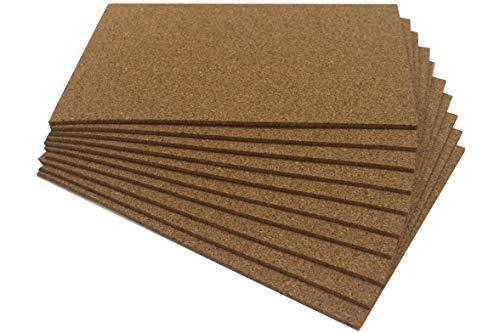 Chely Intermarket lamina corcho pared 20x30 cm (10unds), Resistente material fabricada de Portugal, especial para Paredes Suelos Grabado y Manualidades(55304-20x30*10-0,05)