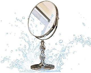 Asdfnfa Makeup Mirror Female Desktop Princess Mirror Portable Folding Vanity Mirror Dormitory Home Cosmetic Mirror (Size : 6 inches)