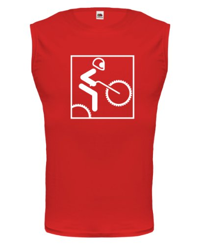 Tank Top Motocross-Piktogramm-M-Red-White