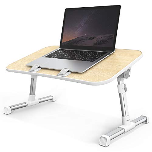 Laptop Desk, iTeknic Laptop Table, Adjustable Laptop Bed Tray, Foldable Laptop Bed Table