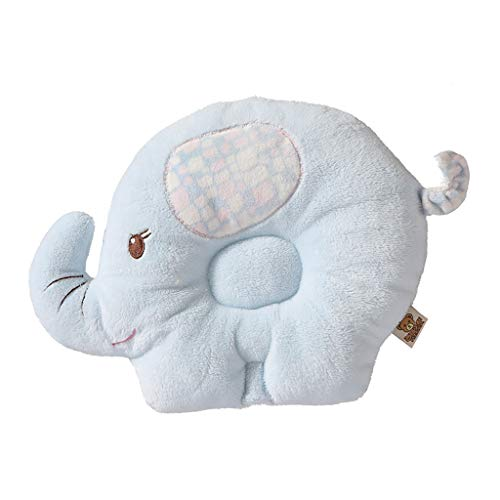 Armfer Toys Newborn Baby Pillow for Head Shaping Breathable Head Protector Preventing Flat Head Syndrome Soft Plush Cushion Pillows Cute Animal Shape Durable Washable 0-3 Years