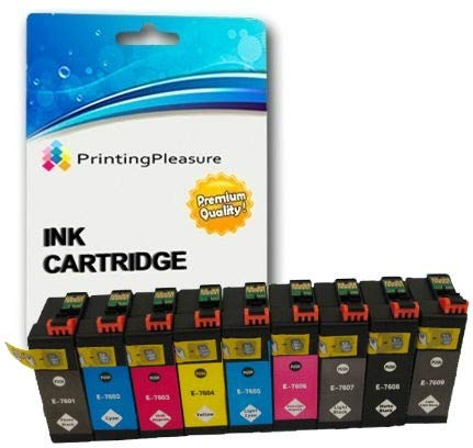 9 Druckerpatronen für Epson SureColor SC-P600 | kompatibel zu T7601, T7602, T7603, T7604, T7605, T7606, T7607, T7608, T7609 | Pigment 32ml