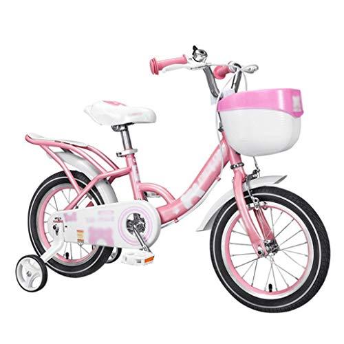LDDLDG - Bicicleta infantil con ruedas de apoyo, para niñas de 2 a 9 años, 12, 14, 16 y 18 pulgadas, con ruedas de apoyo, para niños pequeños (color: azul, talla: 18 pulgadas)