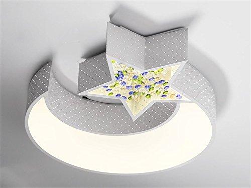 FANDBO@ Estilo coreano romántica habitación lámpara de techo de Niños de luna de la estrella LED ( Color : 62*50 )