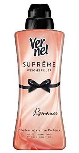 Vernel Suprême Romance Weichspüler, 168 (7 x 24) Waschladungen, für einen langanhaltenden Duft