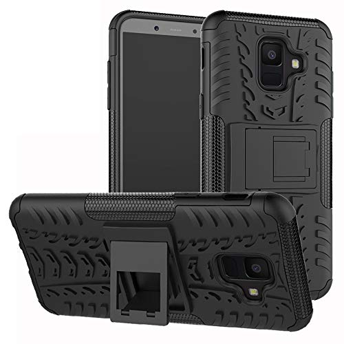 Labanema Galaxy A6 2018 Coque, Etui Housse Coque Shockproof Robuste Impact Armure Hybride Béquille Cover pour Samsung Galaxy A6 2018 / SM-A600N / A600-Noir