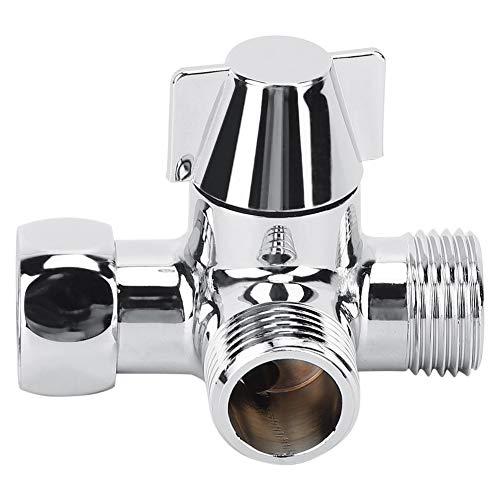 Qiraoxy G1 / 2 Ducha Adaptador de Tres Vías en Forma de T Conector de Desviador de Agua Inodoro Bidet Separador de Agua