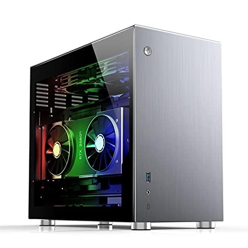 WSNBB Carcasa para PC, Caja De PC, Computadora De Penetración Lateral 240 Refrigeración por Agua, Carcasa ITX, Compatible con Fuente De Alimentación Grande ATX