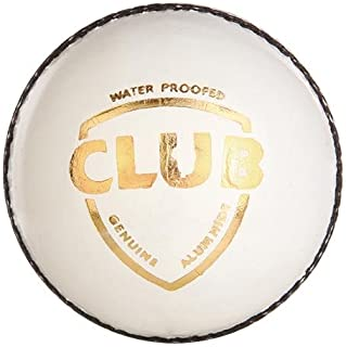 SG Club Leather Ball, Four Pitch (White) cricket ball