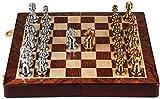 Juego de juegos de mesa de entretenimiento Juegos de ajedrez El juego de ajedrez de viaje de lujo plegable de ajedrez de lujo es ligero y fácil de transportar regalos para los amantes del ajedrez y lo