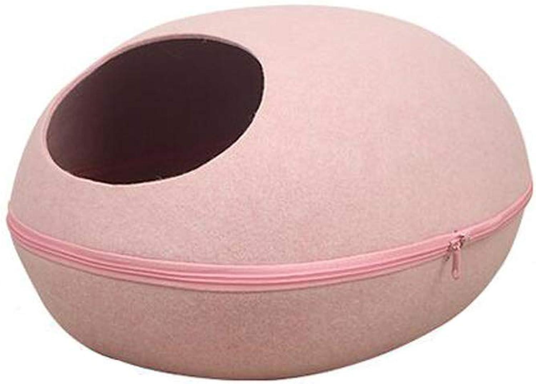 Pet Beds Four Seasons Universal Round Dog Footprints Hollow Design Felt Cat Litter Durable Mat Separation Pet Supplies