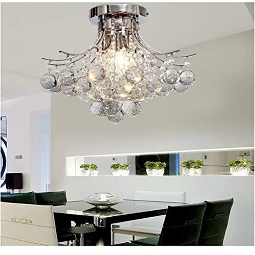 ALFRED® Kronleuchter moderne Kristall 3 leuchtet, Mini Style Putz Deckenleuchte Fixture zur Studie Raum/Büro, Esszimmer, Schlafzimmer, Wohnzimmer