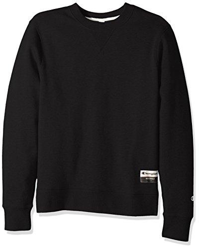 Champion Men's Authentic Originals Sueded Fleece Sweatshirt, Black, Large