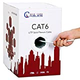 Newyork Cables 1000ft Cat6 Plenum   100% Solid Bare Copper Wire 23AWG 4 Pair, 550MHz, Unshielded Twisted Pair (UTP), Cat 6 Ethernet Cable Plenum - White