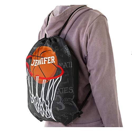 Mochila con cordón personalizado de pizarra de baloncesto y aro bolsa de cordón Schoool bolsa de la compra bolsa de gimnasio bolsa de deporte bolsa de gimnasio bolsa de cuerda