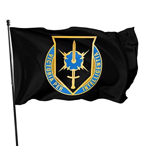 WH-CLA Jardín Banner De Ejército De Los EE. UU. 336 Mi BDE DUI Hogar Jardín Patio Banderas Actividades Banners De Pared Decoración 150X90 Cm Bandera De Patio Toda La Temporada Festival I
