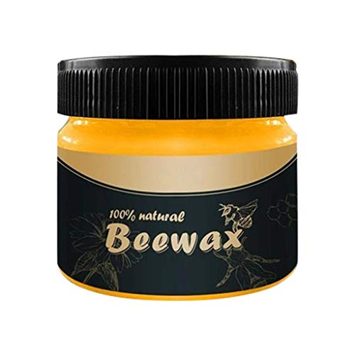 Möbelwachs Bienenwachs, Natürlichen Traditionelles Wood Seasoning Beeswax Poliermittel Wasserdicht Verschleißfest Glanz steigern Geeignet für Böden, Schränke, Türen und Fenster, Tische und Stühle