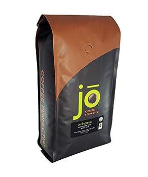 JO ESPRESSO  2 lb Medium Dark Roast Whole Bean Organic Arabica Espresso Coffee USDA Certified Organic Espresso NON-GMO Fair Trade Certified Gluten Free Gourmet Espresso Beans by Jo Coffee