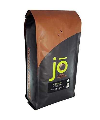 JO ESPRESSO: 2 lb, Medium Dark Roast, Whole Bean Organic Arabica Espresso Coffee, USDA Certified Organic Espresso, NON-GMO, Fair Trade Certified, Gluten Free Gourmet Espresso Beans by Jo Coffee