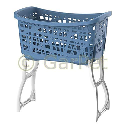 Wäschekorb mit Standbeinen Wäsche Korb Ständer Sammler Wagen Sortierer Box Beine