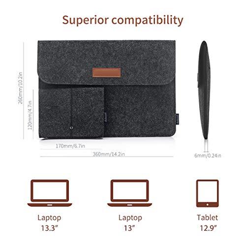 Ultrabook Laptop Tasche für 13″ MacBook Pro/Retina/MacBook Air , iPad Pro 12.9 Tasche Dunkel Grau - 2