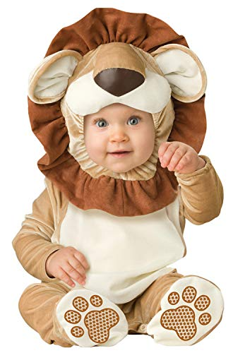 InCharacter Lovable Lion Infant Costume, Small (6-12) Brown