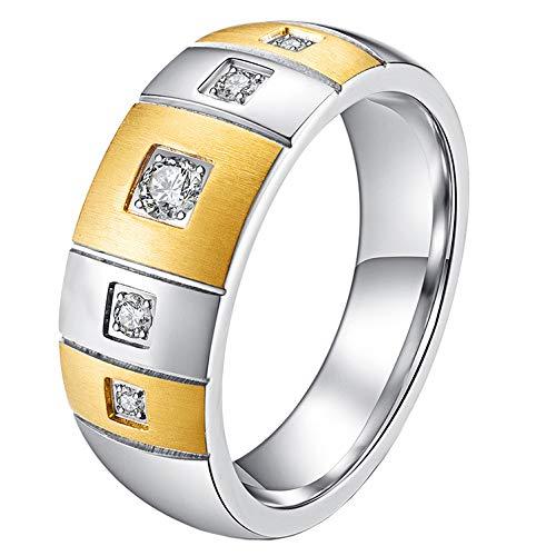 WLG de Los Hombres Inoxidable Acero Anillos Cepillado Arco Banco para Amigo Gold Talla 11