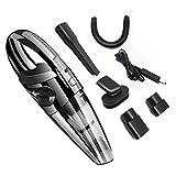 Valavie Aspiradora de mano inalámbrica, batería 2200 mAh/12 V/100 W/6000 pa, aspiradora de mano recargable para el coche en casa mojado y seco