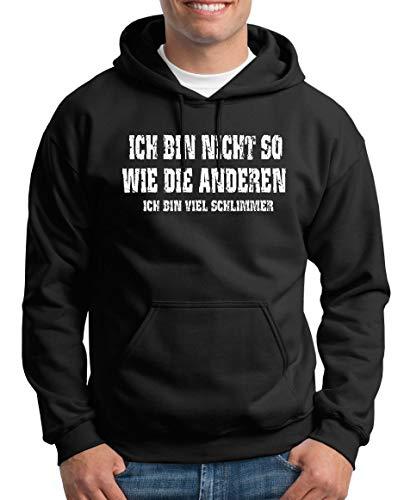 TShirt-People Ich bin nicht so Kapuzenpullover Herren XXXXL Schwarz