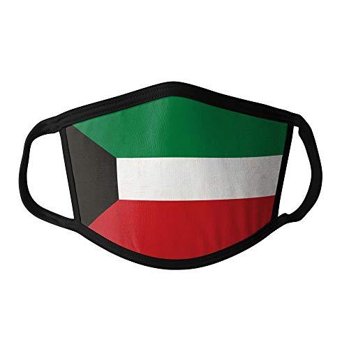 M&schutz Maske Stoffmaske Groß Asien Flagge Kuwait Wiederverwendbar Waschbar Weiches Baumwollgefühl Polyester Fabrik Schwarze Naht Trimmen