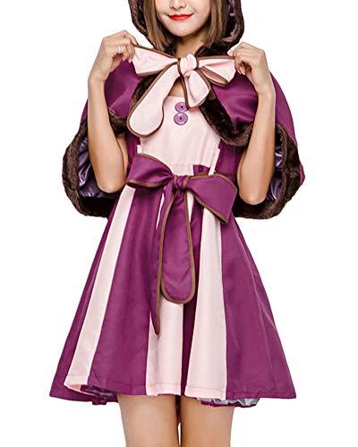 YAOTT Disfraz De Cosplay Vestido para Niña Mujer Trajes De Fiesta Conjunto De Disfraces Carnaval Adulto Adulto-M