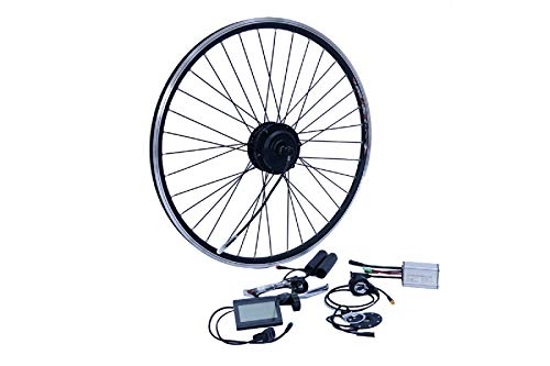 "NCB E-Bike Umbausatz 26 Zoll Vorderrad FWD 250W Kit Disc + V Brake Kabel wasserfest IP65 36V ENC36250-26-FWD 26\"""