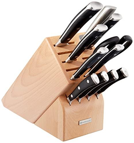 WÜSTHOF CLASSIC IKON Twelve Piece Knife Block Set   12-Piece German Knife Set   Precision Forged High Carbon Stainless Steel Kitchen Knife Set with 15 Slot Wood Block – Model
