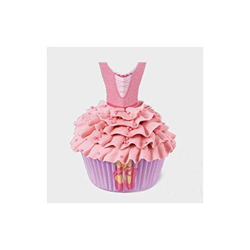 Wilton Kit de décoration pour Cupcakes Motif Danse, Blanc, Lot de 48 pièces