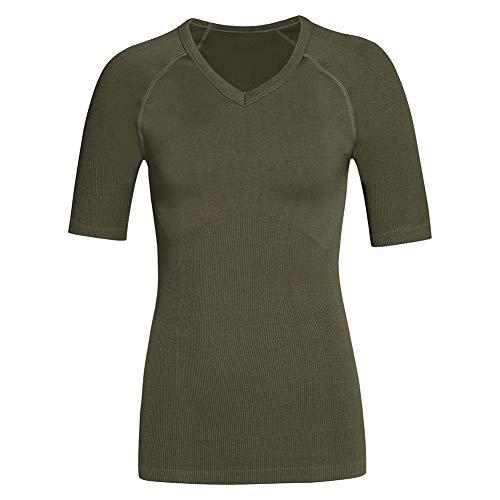Débardeur Gainant pour Hommes Mens Slimming Body Shaper Compression Poitrine Vest Shirt Tank Top Shapewear sous-Vêtements Abdomen Contrôle,Vert,XL