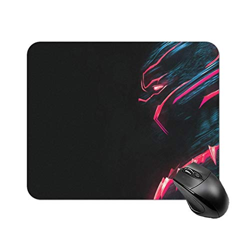 Mouse Pad, Non-Slip Rubber Base Mousepad with Stitched Edge, Office Mouse Pad Game Mouse Pad, 22 X 18cm (Black-Panther)