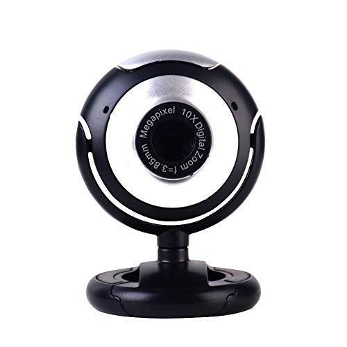 Webcam Online - Cámara USB para ordenador portátil, con micrófono, videocámara para PC, ordenador portátil