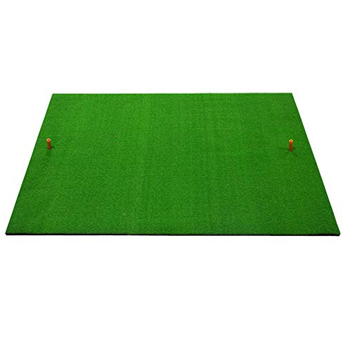 ZXHH Golf Mat Golf Premium Practice Hitting Mat Golf Swing Mat Golf Training Mat Golf Fairway Mats with Golf Ball and Rubber tee,100 x 150cm