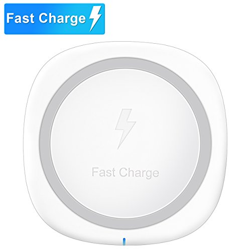 Pansonite QI Wireless Charger, Fast Wireless Charging Pad for Samsung S8/S8+/S7/S7 Edge/S6/S6 Edge+/Note 5, Standard Charge for iPhone 8/8+, iPhone X, Nexus 4/5/6/7 and Other Qi-enabled Devices