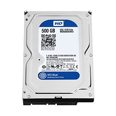 WD Blue 500GB Desktop Hard Disk Drive - 5400 RPM SATA 6 Gb/s 64MB Cache 3.5 Inch - WD5000AZRZ by WESEC