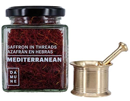 Zafferano Premium in Pistilli Mediterranean - Categoria I Superiore - 20g con Mortaio