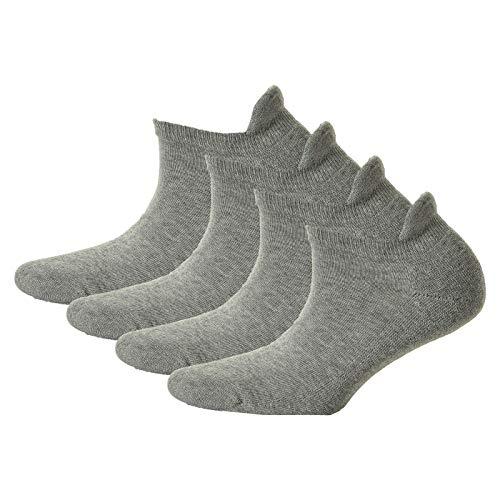 Hudson 4 Paar Damen Sneaker Socken - Only Plush, Plüschsohle, uni (2x 2-Pack) (Silber (0502), 39-42 (4 Paar))