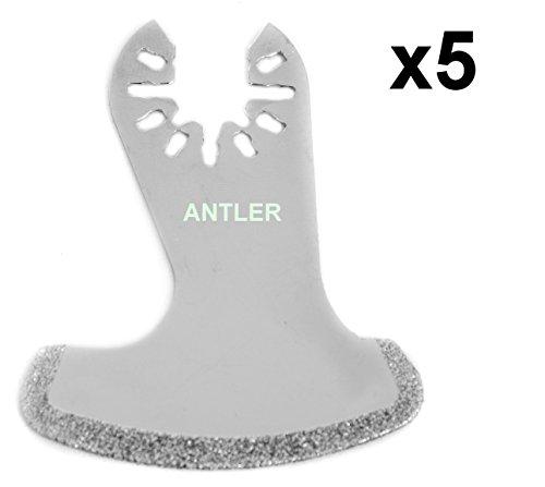 Antler QAB58DB Diamant-laarzen zaagbladen snelspanner messen multitool oscillerende gereedschap accessoires (verpakking van 5)