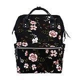 MIMUTI バックパック シームレスな花柄のベクトル 男女兼用 通学 通勤 旅行 スポーツ バッグ