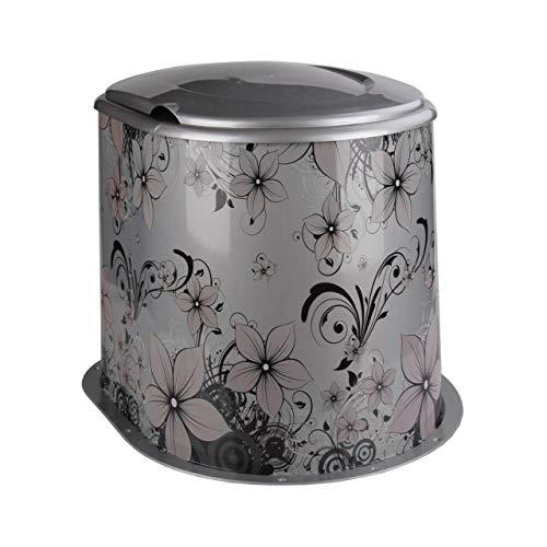 4BIG.fun Camping Toilette Datscha WC Datsche Kompost Reise Mobile tragbar Klo Silber