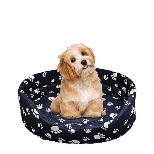 NZAUA Katzenstreu, rundes Haustierbett, geeignet für Indoor-Katzen oder kleine Hunde, runde Maschinenwaschbare super weiche Plüsch-Flanell-Pet-Produkte, rutschfeste Oxford