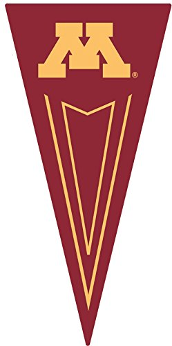 11 Inch UMn University of Minnesota Golden Gophers Pennant Flag Logo Removable Wall Decal Sticker Art NCAA Home Room Decor 5 1/2 x 11 Inches