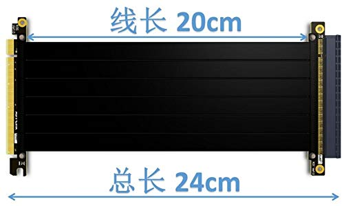 Occus - Cables Riser PCI Express PCI-E 16x to PCIE 3.0 x16 Riser Graphics Card Cable 20cm - 1m for GTX1080TI firepro w7100,Quadro K1200 VEGA64 - (Cable Length: 100cm, Color: R33ST)